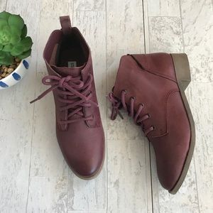 Steve Madden Rubin leather laceup ankle boots 8.5